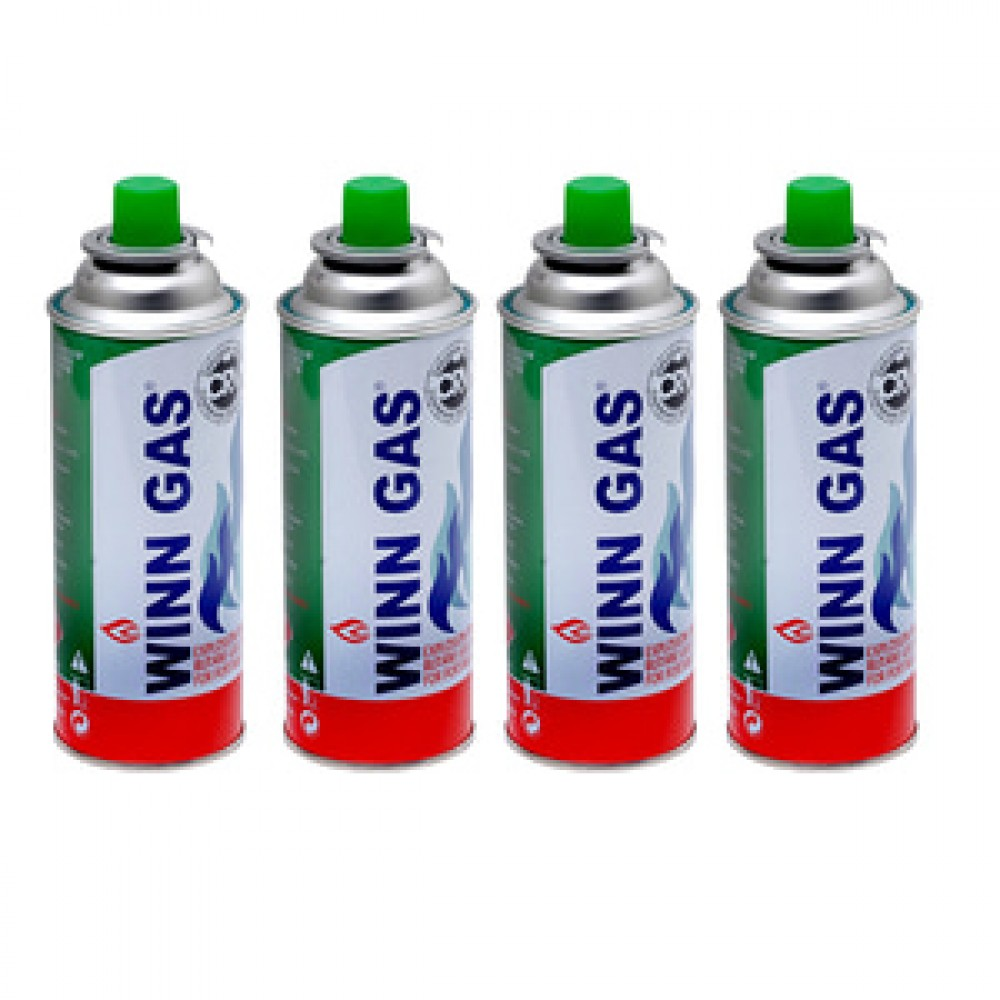WINN GAS BUTANE CAN 4PCS
