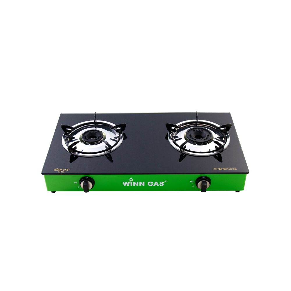 Glass Gas Stove W388 Green