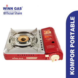 Portable Gas Stove Double Safety W2S - Red Free Butane 4pcs